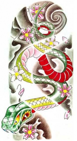 Эскизы татуировок - Змея