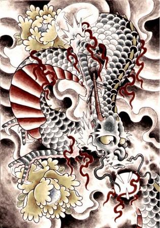 Эскизы татуировок — Дракон