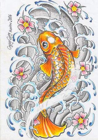 Эскизы татуировок - Рыба 2