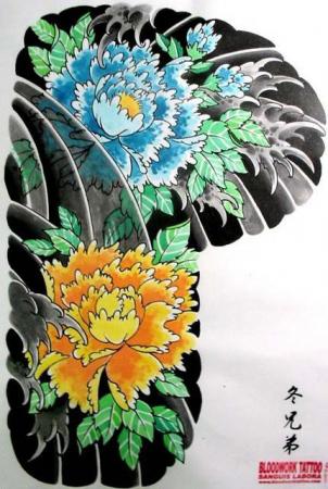 Эскизы татуировок — Цветы 3