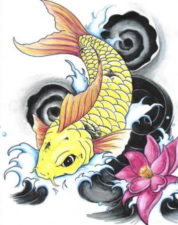 Эскизы татуировок — Рыба 5