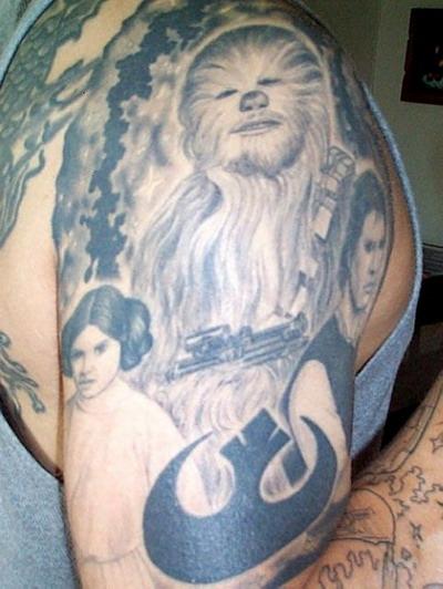 Мужские татуировки - Звездные войны 21