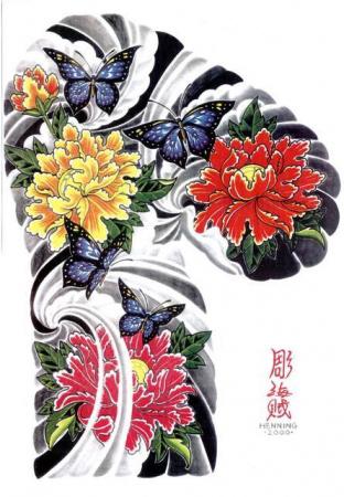 Цветка цветы эскизы татуировок