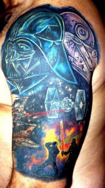 Мужские татуировки - Звездные войны 9