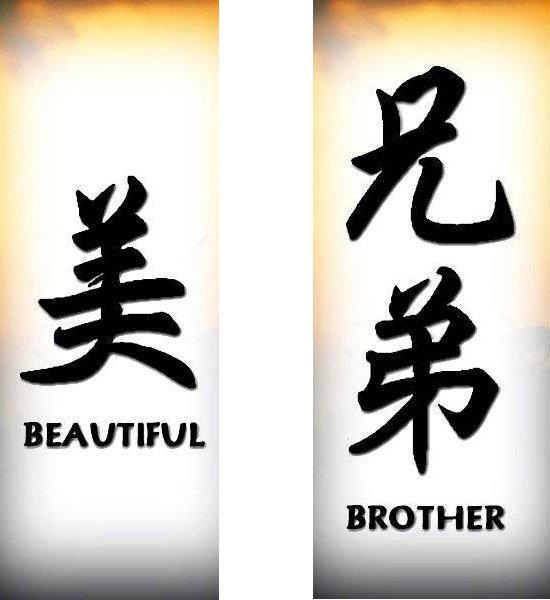 Татуировки иероглифы — красота брат