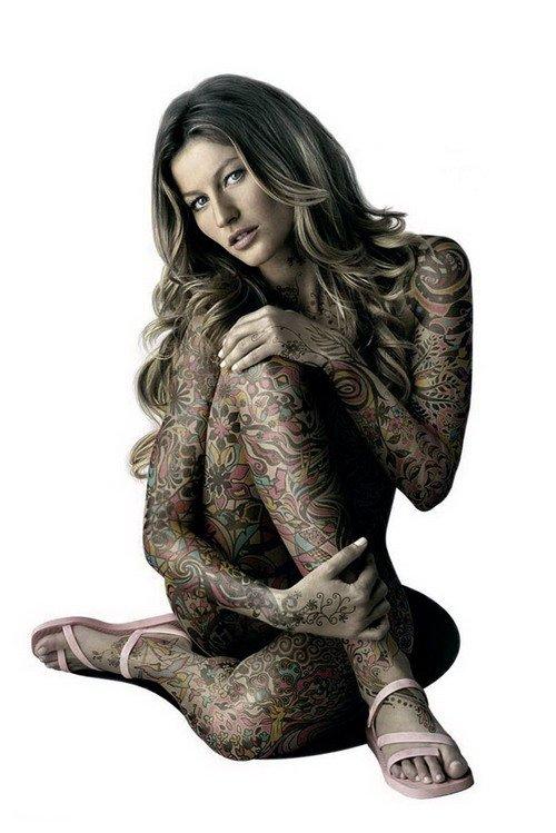 Женские татуировки - Татуировка на все тело