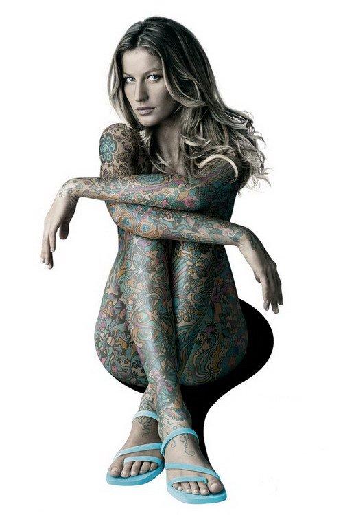 tattooed and nake women
