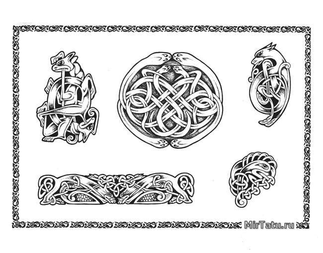 Эскизы татуировок — Кельтские узоры