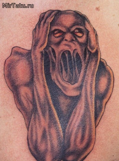 Фото татуировок - Кричащий демон