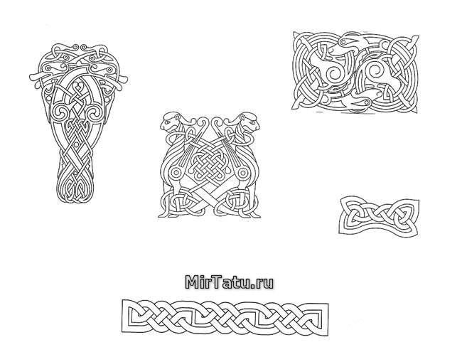 Эскизы татуировок — Кельтские узоры 12