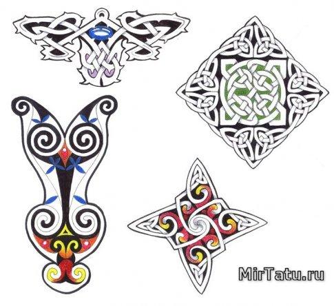 126 эскизы татуировок кельтские узоры 14