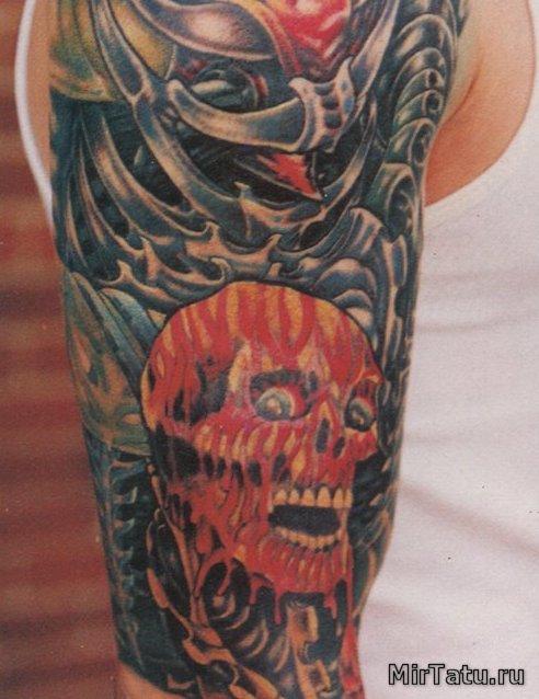 Фото татуировок - Кровавый череп