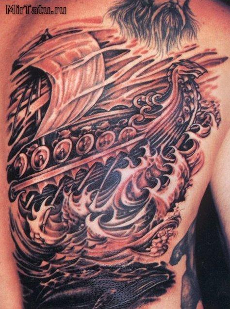 Фото татуировок - Корабль