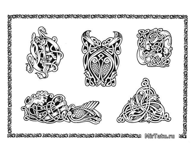 Эскизы татуировок - Кельтские узоры 3
