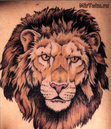 Фото татуировок — Лев 3
