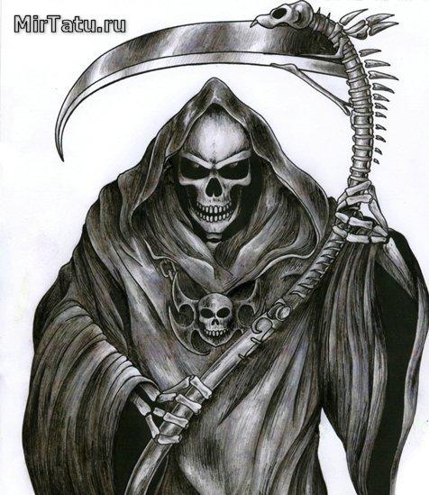 Эскизы татуировок - Смерть