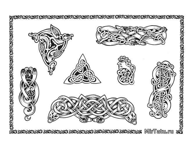 Эскизы татуировок — Кельтские узоры 6