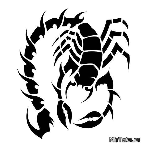 Эскизы татуировок — Скорпион 6