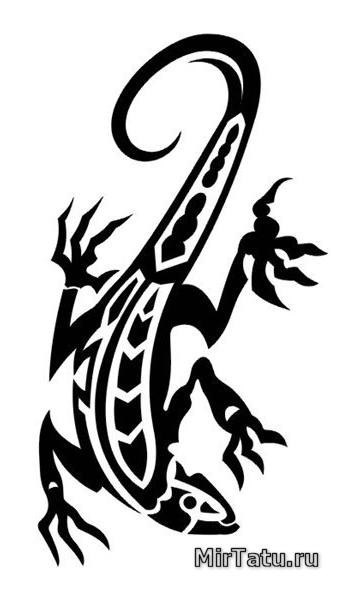 Эскизы татуировок - Ящерица 7