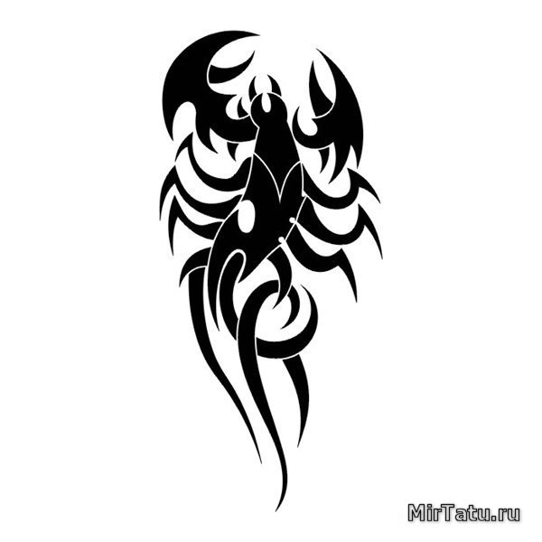 тату эскизы скорпиона на руке