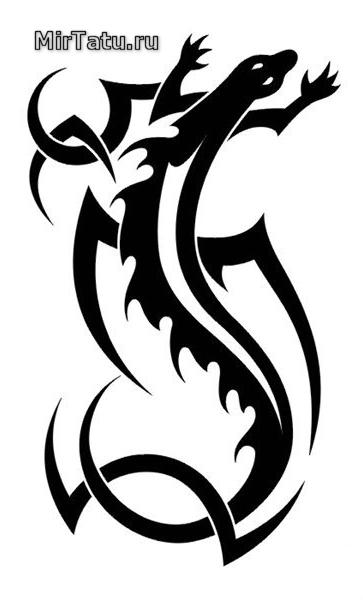 Эскизы татуировок - Ящерица 8