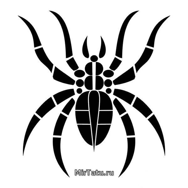 татуировки рисунки пауков