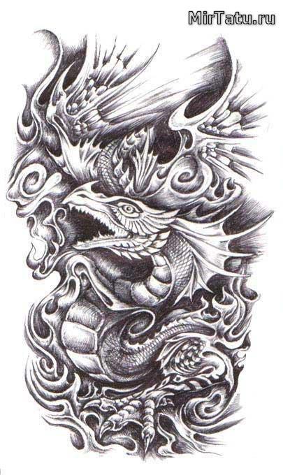 Эскизы татуировок - Биомеханика