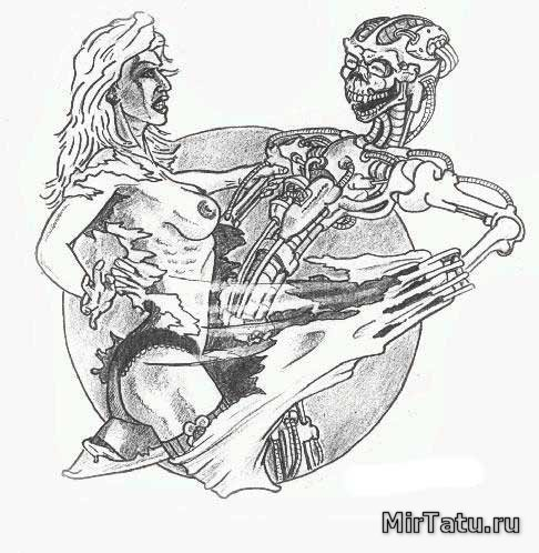 Эскизы татуировок — Биомеханика 10