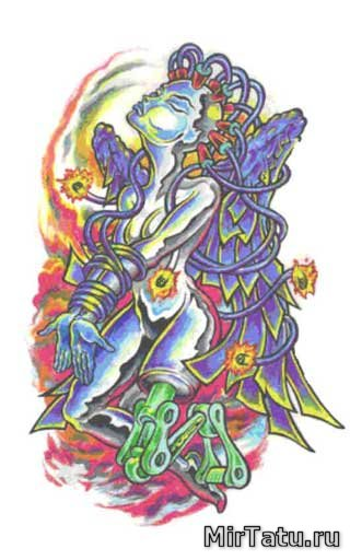 Эскизы татуировок — Биомеханика 12