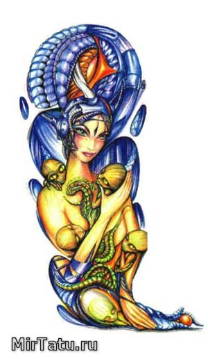 Эскизы татуировок — Биомеханика 13