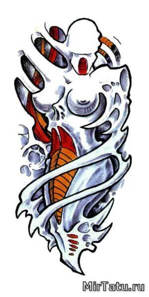 Эскизы татуировок - Биомеханика 14