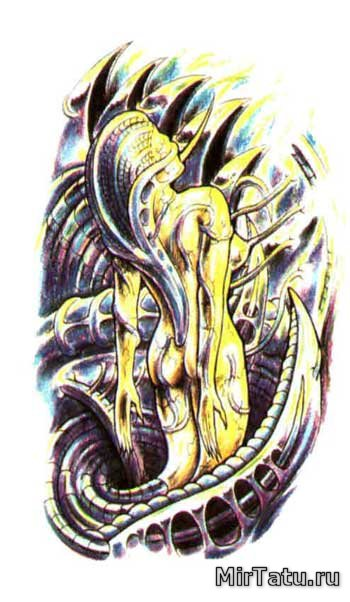 Эскизы татуировок — Биомеханика 6