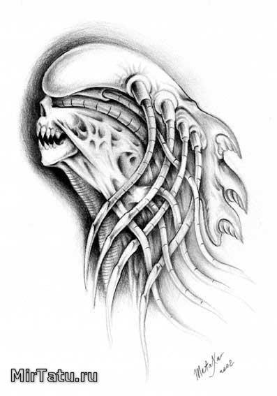 Эскизы татуировок — Биомеханика 7