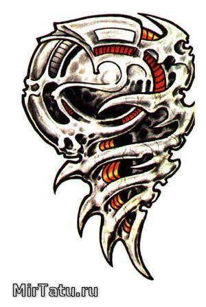 Эскизы татуировок - Биомеханика 8
