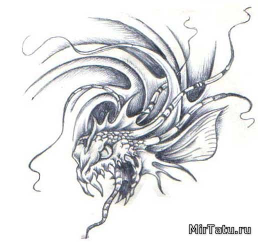 Эскизы татуировок — Биомеханика 9