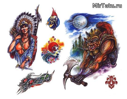 Эскизы татуировок - Индийские татуировки