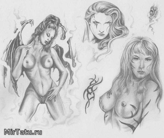 Эскизы татуировок — Девушки