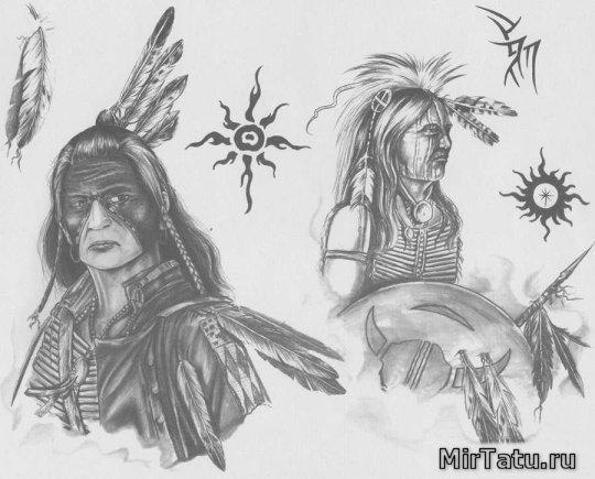 Эскизы татуировок — Индейцы