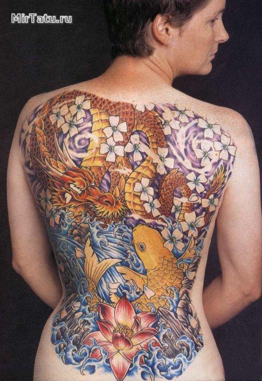 Фото татуировок — Татуировка на спине