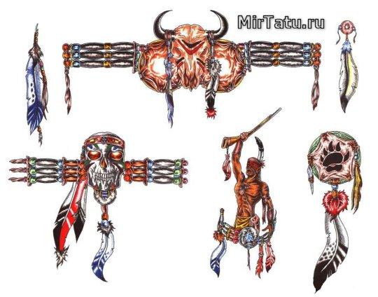 Эскизы татуировок — Индийские татуировки 3