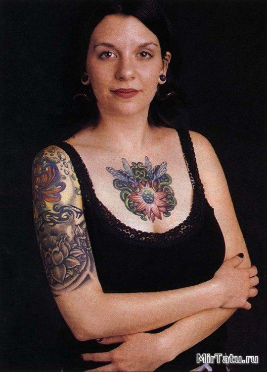 Фото татуировок — Татуировка на груди и руке