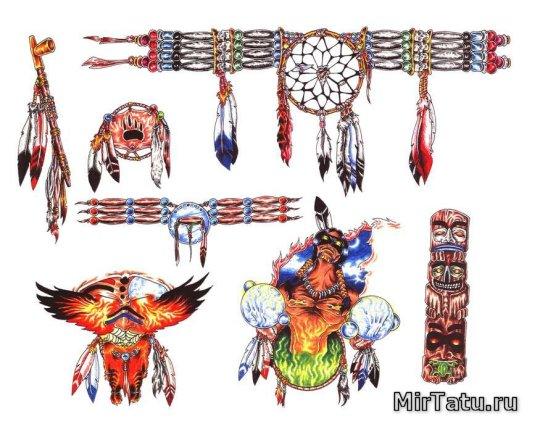 Эскизы татуировок — Индийские татуировки 4
