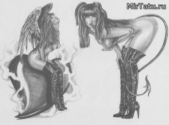 Эскизы татуировок - Девушки 3