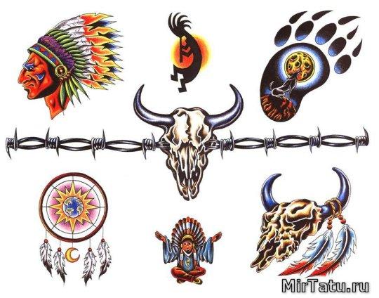 Эскизы татуировок - Индийские татуировки 5