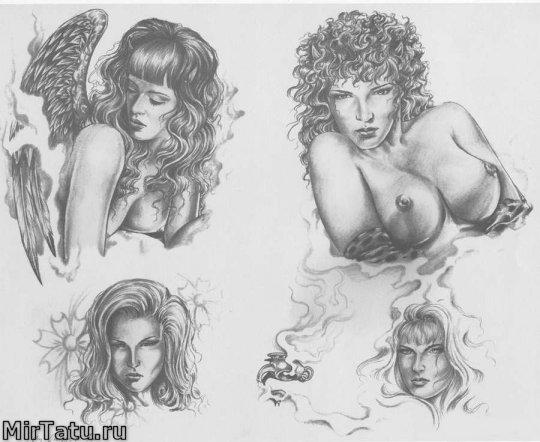 Эскизы татуировок — Девушки 4