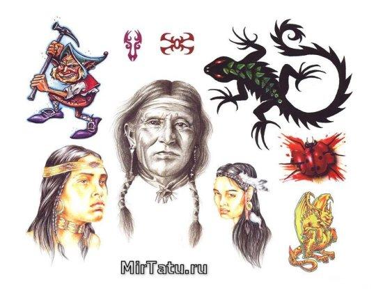 Эскизы татуировок - Индийские татуировки 6