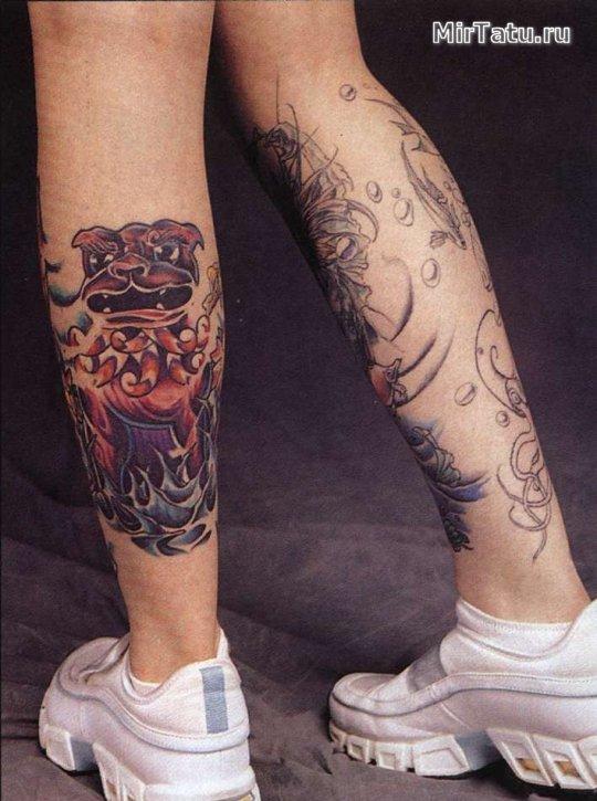 Татуировки цепочка на ноге картинки