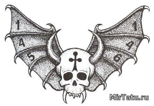 Тюремные татуировки — Череп