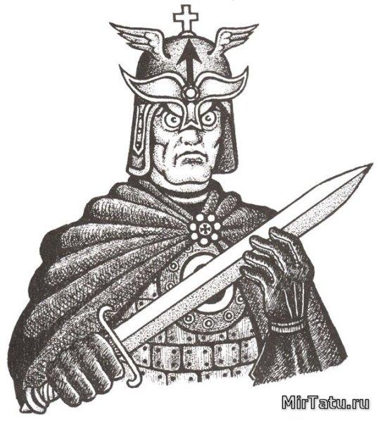 Тюремные татуировки - Рыцарь