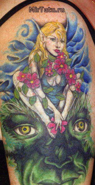 Фото татуировок — Цветы 11